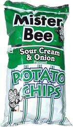Mister Bee Sour Cream & Onion Potato Chips