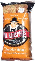Mr. Krispers Natural Gourmet Rice Chips Cheddar Salsa