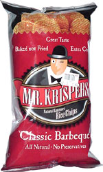 Mr. Krispers Natural Gourmet Rice Chips Classic Barbecue