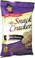 Mr. Krispers Tasty Snack Crackers Original Sesame
