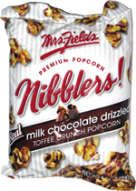 Mrs. Fields Premium Popcorn Nibblers! Milk Chocolate Drizzle Toffee Crunch Popcorn