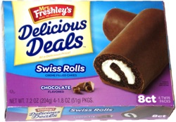 Mrs. Freshley's Delicious Deals Swiss Rolls