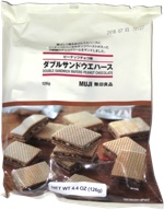 Muji Double Sandwich Wafers Peanut Chocolate