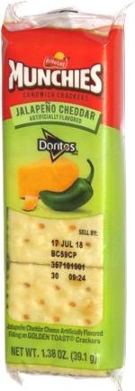 Munchies Sandwich Crackers Jalapeño Cheddar Doritos