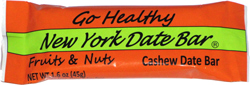 Go Healthy New York Date Bar Fruits & Nuts Cashew Date Bar