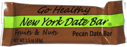 Go Healthy New York Date Bar Fruits & Nuts Pecan Date Bar