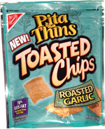 Nabisco Pita Thins Toasted Chips Roasted Garlic