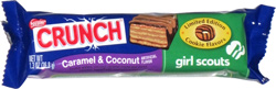 Nestle Crunch Limited Edition Cookie Flavors Girl Scouts Caramel & Coconut