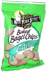 New York Style Baked Bagel Chips Garlic