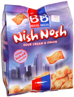 Nish Nosh Sour Cream & Onion Crispy Baked Snacks
