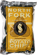 North Fork of Long Island Kettle Cooked Cheddar Onion Potato Chips