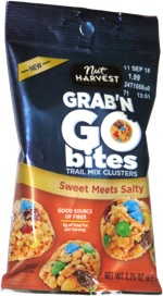 Nut Harvest Grab 'n Go Bites Sweet Meets Salty