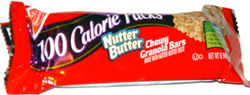 Nutter Butter Chewy Granola Bars 100 Calorie Packs