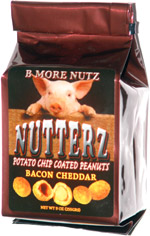 Nutterz Bacon Cheddar Potato Chip Coated Peanuts