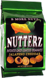 Nutterz Potato Chip Coated Peanuts Jalapeno Cheddar