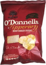 O'Donnells Of Tipperary Hand Cooked Crisps Mature Irish Cheese and Red Onion Flavour