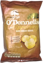 O'Donnells of Tipperary Hand Cooked Crisps Hickory Barbeque Flavour