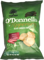 O'Donnells of Tipperary Hand Cooked Crisps Sweet Chilli Flavour