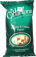 O'Hanlons Cheese & Onion Flavor Potato Chips