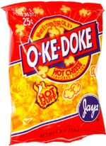 O-Ke-Doke Hot Cheese Flavored Popcorn