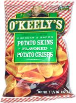 O'Keely's Cheddar & Bacon Potato Skins Potato Crisps