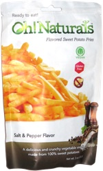Oh! Naturals Flavored Sweet Potato Fries Salt & Pepper Flavor