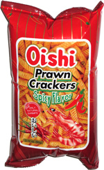 Oishi Prawn Crackers Spicy Flavor