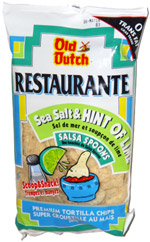 Old Dutch Restaurante Style Sea Salt & Hint of Lime Salsa Spoons Premium Tortilla Chips