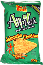 Old Dutch Arriba Jalapeno Cheddar Tortilla Chips