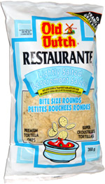 Old Dutch Restaurante Lightly Salted Bite Size Rounds