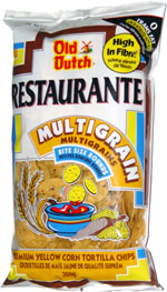 Old Dutch Restaurante Multigrain Bite Size Rounds Premium Yellow Corn Tortilla Chips