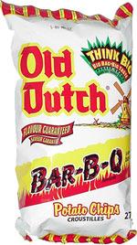 Old Dutch Bar-B-Q Flavoured Potato Chips