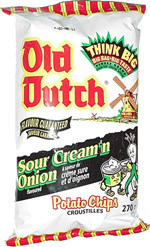 Old Dutch Sour Cream & Onion Potato Chips