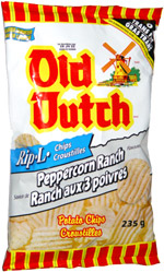 Old Dutch Rip-L Chips Peppercorn Ranch