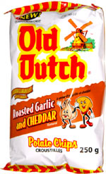 Old Dutch Roasted Garlic and Cheddar Potato Chips