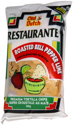 Old Dutch Restaurante Roasted Bell Pepper Lime Premium Tortilla Chips
