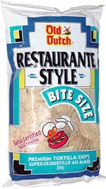 Old Dutch Restaurant Style Bite Size Premium Tortilla Chips