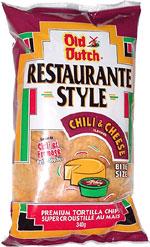 Old Dutch Restaurante Style Chili & Cheese Bite Size Premium Tortilla Chips