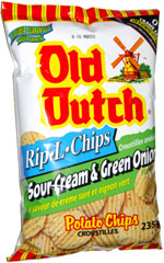 Old Dutch Rip-L Chips Sour Cream & Green Onion