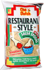 Old Dutch Restaurante Style One Bite Salsa Spoons Premium Tortilla Chips