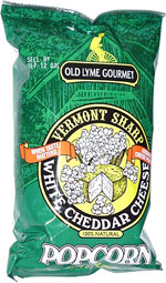 Old Lyme Gourmet Vermont Sharp White Cheddar Cheese Popcorn
