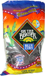 On the Border Blue Corn Cafe Style Tortilla Chips