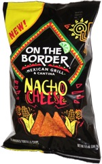 On the Border Nacho Cheese Flavored Tortilla Chips