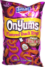 Rudolph's OnYums Sweet Bar-B-Q Flavored Rings