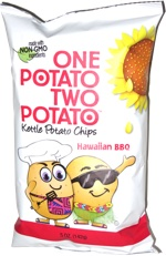 One Potato Two Potato Kettle Potato Chips Hawaiian BBQ