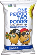 One Potato Two Potato Kettle Potato Chips Seaside Salt'n Vinegar