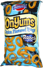 Rudolph's OnYums Onion Flavored Rings Ranch Flavor