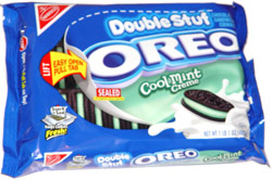 Double Stuf Oreo Cool Mint Creme