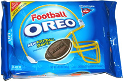 Football Shaped Oreo