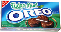 Fudge Mint Covered Oreo Chocolate Sandwich Cookies